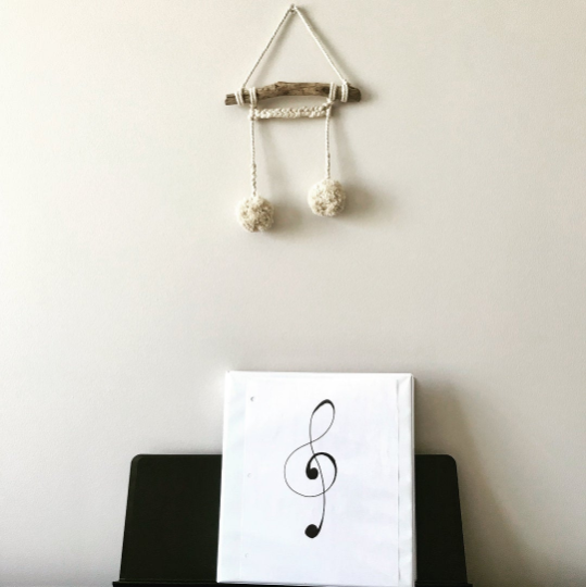 Peachlady Crafts Original Handmade Music Note Wall Hanging Home Decor