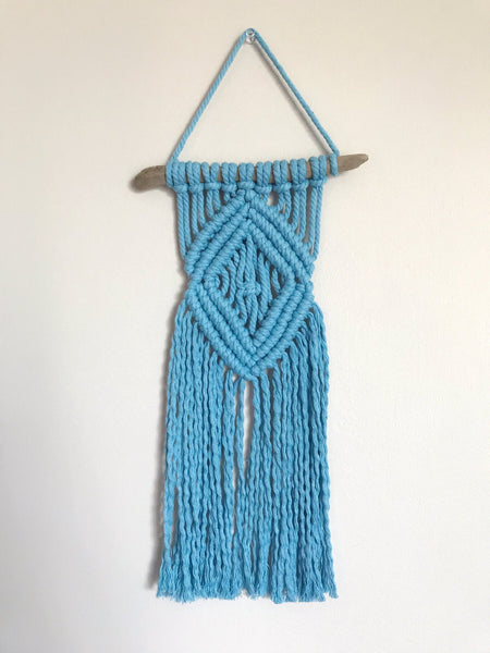 Peachlady Crafts Handmade Small Diamond Macrame Wall Hanging