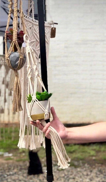 Peachlady Crafts Handmade Macrame Plant Hanger