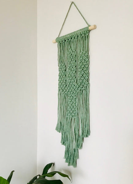 Peachlady Crafts Handmade Cactus Macrame Wall Hanging Home Decor