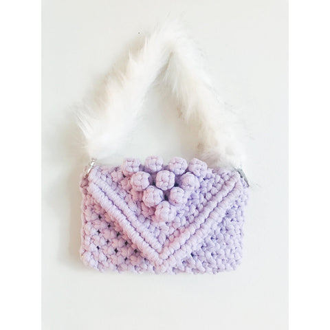Peachlady Crafts Handmade Macrame Purse