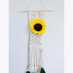 Handmade Macrame wall hanging organizer slim bottom
