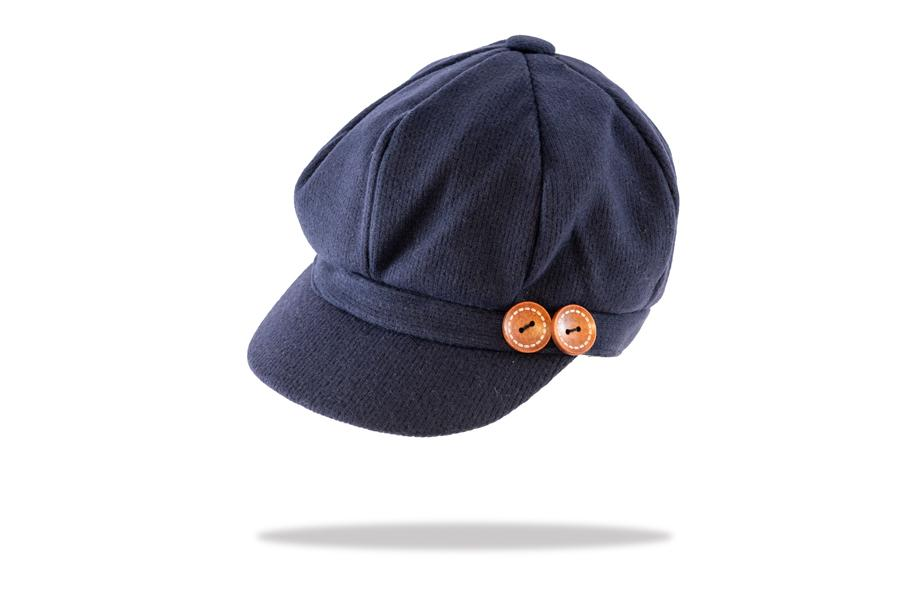Women's Baker Boy Cap in Navy - The Hat Project