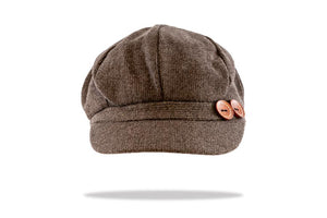 Women's Baker Boy Cap in Taupe