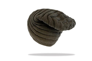 Men's Plush Lined Slouch Beanie in Grey - The Hat Project