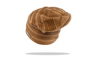 Men's Plush Lined Slouch Beanie in Tan - The Hat Project