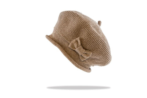 Women's Beret in Latte - The Hat Project