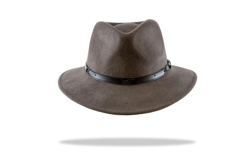 Men's Wool Felt Outback Fedora in Ash - The Hat Project