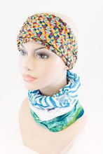 Load image into Gallery viewer, Head sock Aquamarine Turban - The Hat Project