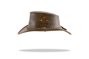 Leather Hat Australian Made Barmah-Lightning Ridge