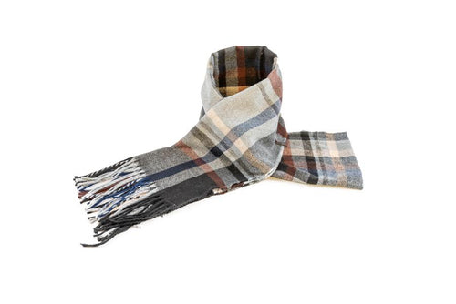 Men's Red Checkered Scarf - The Hat Project