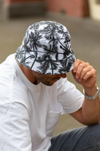 men's reversible palm tree bucket hat