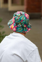 Load image into Gallery viewer, men's reversible floral hibiscus bucket hat