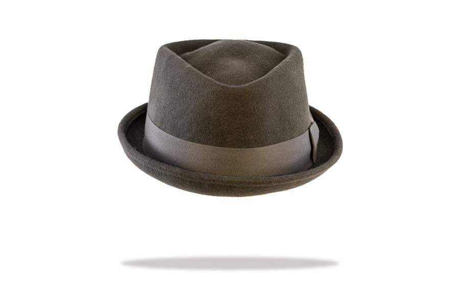 Wool Felt Porkpie Hat in Slate