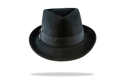 Women's Wool Felt Trilby Hat in Black - The Hat Project