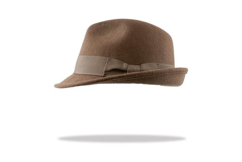 Men's Wool Felt Trilby Hat in Brown - The Hat Project