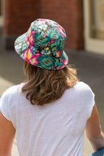 Load image into Gallery viewer, women's reversible floral hibiscus bucket hat