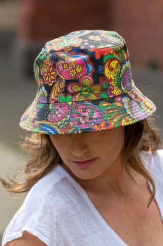 women's paisley bucket hat