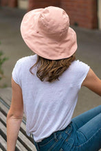 Load image into Gallery viewer, women's pink reversible sun hat cotton