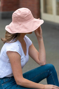 women's pink reversible sun hat cotton