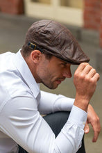 Load image into Gallery viewer, Men's Brown Leather Flat Cap