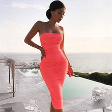 Load image into Gallery viewer, Adyce 2019 New Summer Celebrity Evening Party Dress Vestidos Sexy Pink Sleeveless Spaghetti Strap Strapless Draped Club Dresses