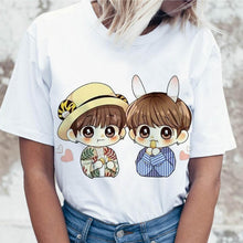 Load image into Gallery viewer, Kpop T Shirt JIN SUGA J HOPE Women JIMIN V JUNGKOOK Top Tshirt for K pop Korean Tees Funny Graphic Female T-shirt K-pop