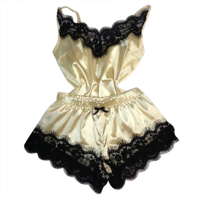 Sexy Lingerie Porno Babydoll Erotic Sleepwear Women Underwear Bow Lace Hot Sex Fashion Temptation Satin Nightdress Suit