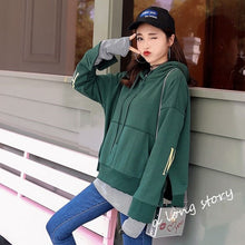 Load image into Gallery viewer, Hoodies Women Autumn Winter Trendy Embroidery Korean Style Simple Casual Kawaii Ulzzang Oversize Womens Clothing Chic Streetwear