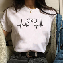 Load image into Gallery viewer, T Shirt Women 2019 Plus Size Harajuku Tops Summer Tops Graphic Tees Women Mickey Mouse Heartbeat Kawaii T-shirt S-XXL