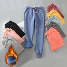 Load image into Gallery viewer, Autumn Winter Harem Warm Pants Women's Thick Velvet Cashmere Pants Candy Color Women Loose Winter Causal Women Trousers M-XL