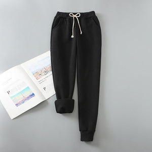 Autumn Winter Harem Warm Pants Women's Thick Velvet Cashmere Pants Candy Color Women Loose Winter Causal Women Trousers M-XL