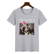 Load image into Gallery viewer, Women Horror Friends Pennywise Michael Myers Jason Voorhees Halloween T Shirt Female Harajuku Summer T-shirt Fashion Top Tees