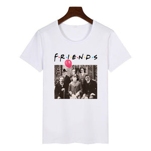 Women Horror Friends Pennywise Michael Myers Jason Voorhees Halloween T Shirt Female Harajuku Summer T-shirt Fashion Top Tees