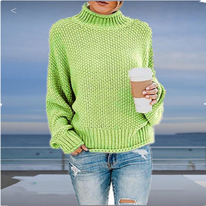 Autumn winter women turtleneck sweater loose casual pullover women jumper tops new oversized knitted sweaters female 2019 CDR902