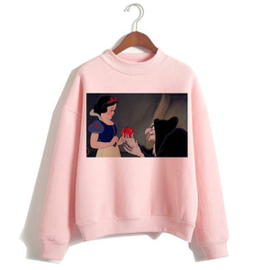 Funny Princess VOGUE Pink Hoodie Hip Hop Women Stree Twear Female Clothes Sweatshirts Pullovers Cartoon Casual Harajuku