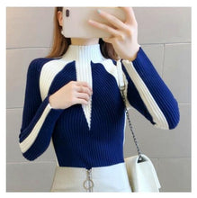 Load image into Gallery viewer, Women's Sweater Winter 2019 Fashion Jumpers Korean Hit Color Pullovers Knitting Pullovers Thick Christmas Sweaters Pull Femme