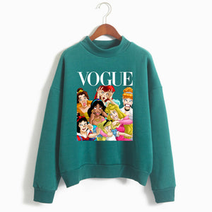 Women Princess Vogue Hoodie Female Winter Fleece Sweatshirt Christmas Black Friday Gift