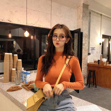 Load image into Gallery viewer, 2019 Autumn Winter Women Knitted Turtleneck Sweater Casual Soft Polo-neck Jumper Fashion Slim Femme Elasticity Pullovers