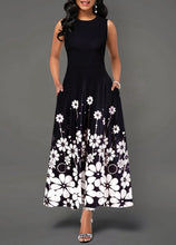 Load image into Gallery viewer, Large Size Elegant Women's Floral Print Long Maxi Dress Evening Party Beach Dress Summer Sleeveless Long Flower Sundress Costume
