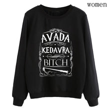 Load image into Gallery viewer, hipster fleece pullovers women tracksuits dropship hip hop lady casual o-neck hoodies Avada Kedavra Bitch sweatshirt 2019 autumn
