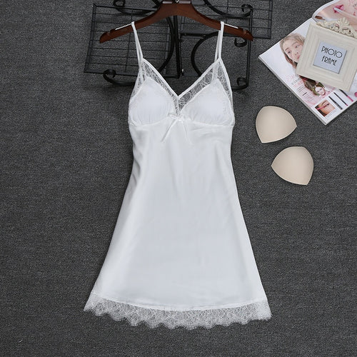 Fashion 2018 NEW Sexy Strap Top Robe Summer Womens Sleepwear Casual Faux Silk Home Wear Nightwear Bath Gown Size M-XXL
