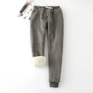 Winter Cashmere Harem Warm Pants Women 2019 Causal trousers Women Warm Thick Lambskin Cashmere Pants Women Loose Pant