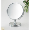 Round Silver Mirror On Stand - Carousel Cosmetics