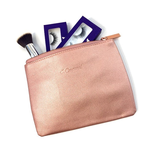 Rose Gold Makeup Pouch