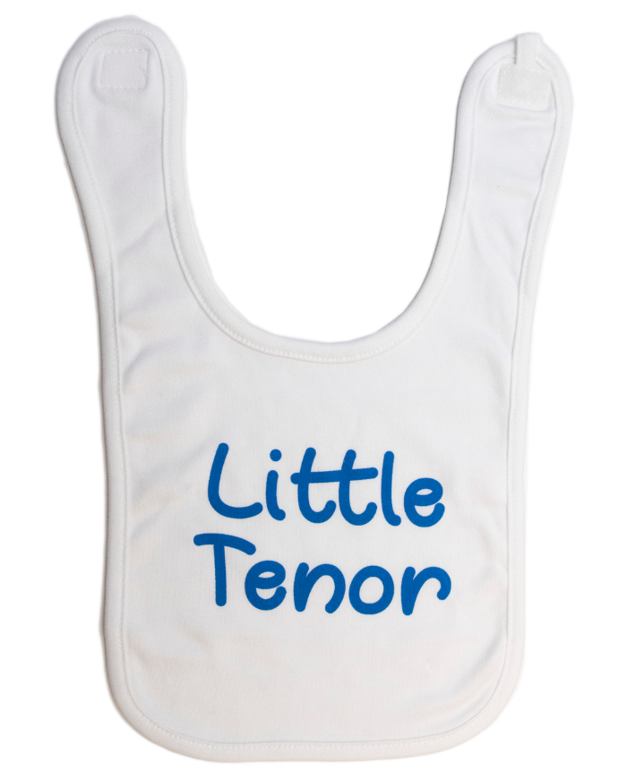 """Little Tenor"" Baby Bib"