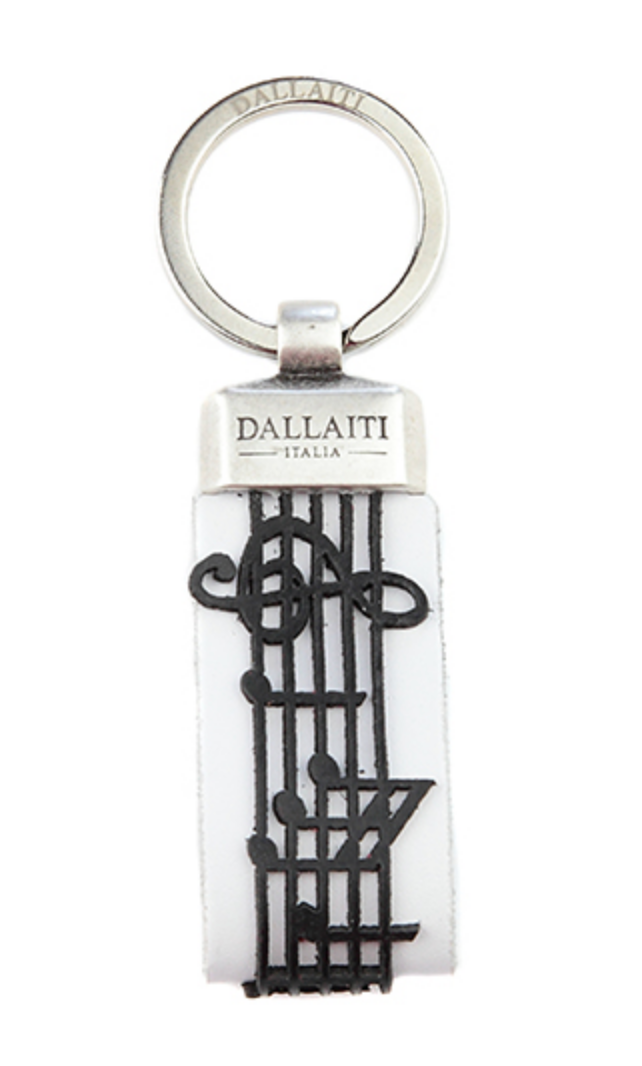 Leather Musical Score Keychain