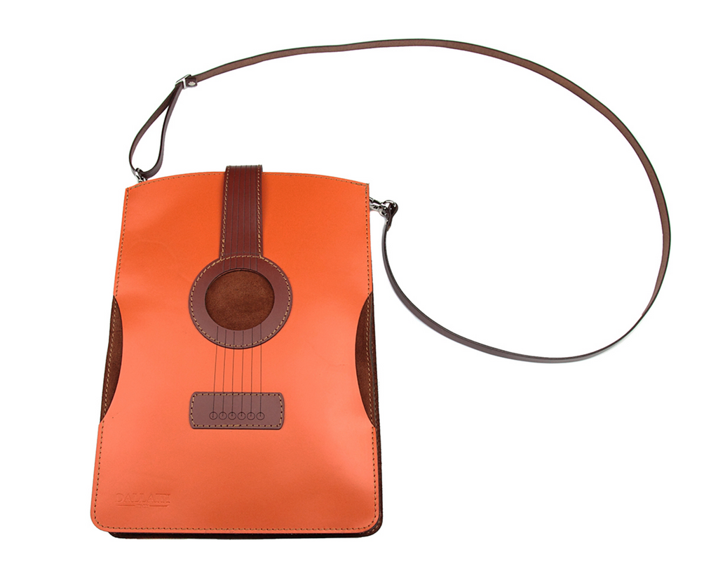 Violin Leather and Suede Crossover Bag