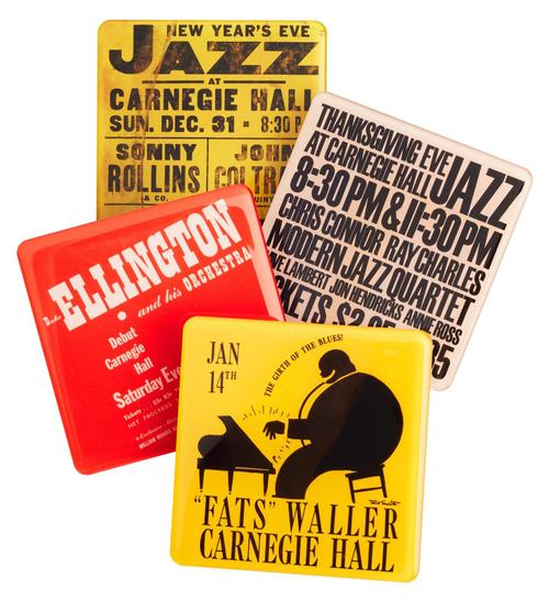 Vintage Jazz Magnetic Coasters (Set of 4)