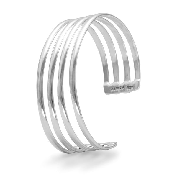 4 Row Polished Cuff
